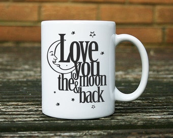 Love You to the Moon and Back Mug in Black
