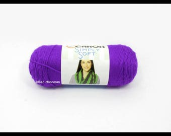 Caron Simply Soft Yarn, Iris, 6oz