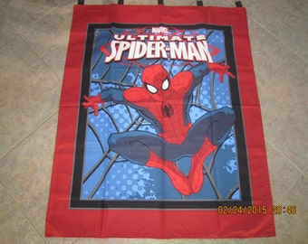 "Spiderman Wall Hanging 35"" x 42"" (backed in black cotton fabric) Clearance Sale 40% Off *"