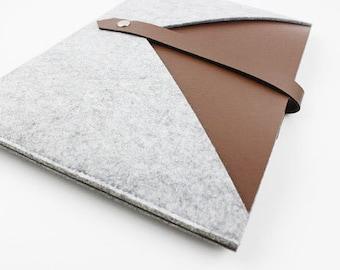 Felt leather Macbook 15 pro retina sleeve, Macbook 15 pro retina case, Macbook Pro retina case, 15 inch Macbook case, New macbook case 030