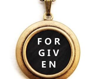 Forgiven Locket - Forgiven Inspirational Word Wear Locket Necklace