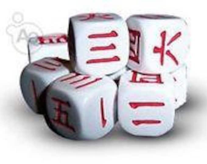 Japanese Kanji 6 Sided Dice Set