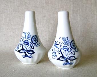 Vintage Nordic Blue Onion Salt & Pepper Shakers