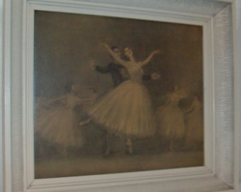 1951 Adagio Ballet Interpretation Framed Print