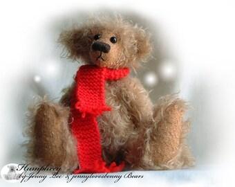Humphrey OOAK artist bear e-pattern by Jenny Lee of jennylovesbenny bears PDF