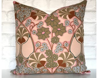 Vintage 70s David Bartle Gaiety Fabric Cushion Cover