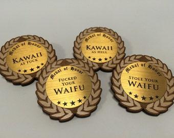 Wooden Medal Award Pin