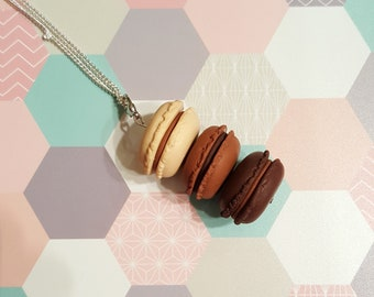 necklace macaroons polymer