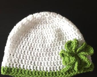 Crochet St Patrick's Day hat