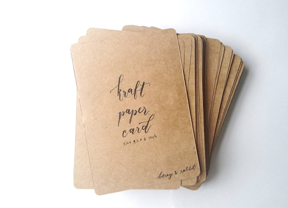 100 kraft paper blank postcards card stock size 42x6 inch w 100 kraft paper blank postcards card stock size 42x6 inch w rounded corners for greeting card invitation note cards or letterpress from m4hsunfo