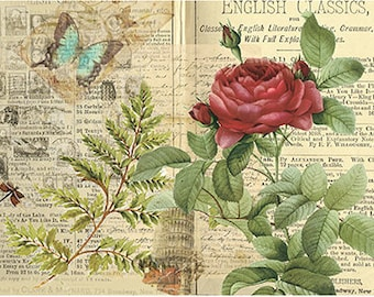 Flowers Decoupage Paper A4 Decoupage supplies Scrapbooking Paper Craft Projects Floral Patterns #424