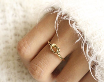 Gold Infinity Ring Knot Ring Promise Ring Knot Eternity Ring Friendship Ring Tie the Knot Friendship Ring Forever Ring