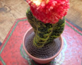 pompon amigurumi handmade crochet Cactus
