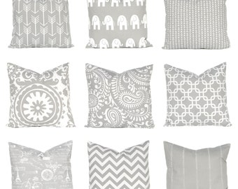 Pillow Cover - Gray Pillow Cover - Euro Sham - Gray Bedding - Decorative Pillow Covers - Sofa Pillows Covers - Grey Pillow Covers