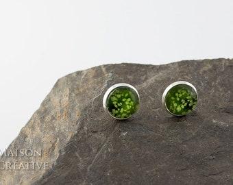 Earrings Silver Green, Spring Green Spring