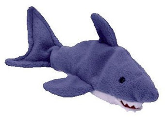 Vintage Beanie Baby: CRUNCH the Shark 1996 - MINT Condition.