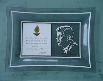 John F. Kennedy Glass Tray