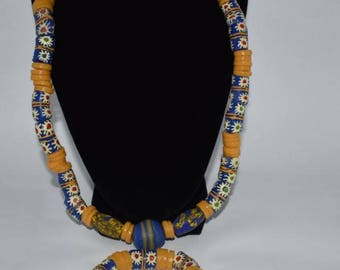 Dazzling West African Bead Necklace