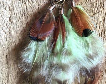 Single feather earring