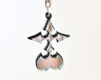 Kingdom Hearts Reflective Nobody Emblem Necklace or Keychain