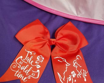 Beauty and the Beast Bow/ BELLE / Cheer Bow/ Tale as OLD as time