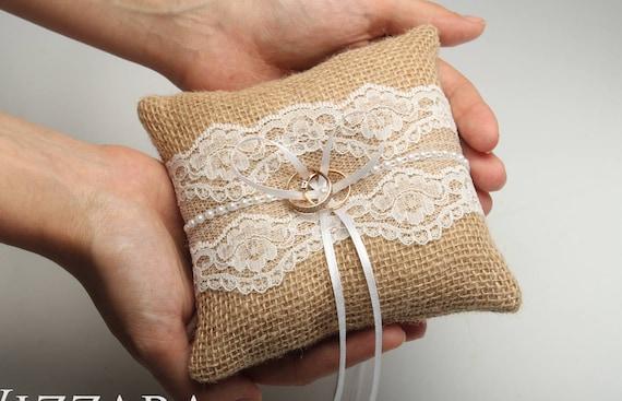 wedding ring pillow rustic wedding ring bearer ring pillow