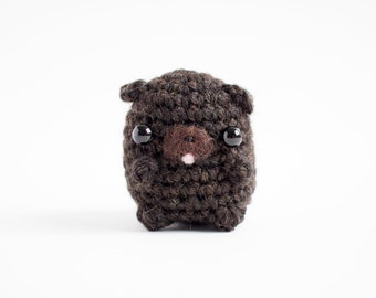 black pug amigurumi - cute crochet dog plush