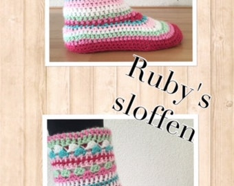 haakpatroon Ruby's sloffen (nederlands)