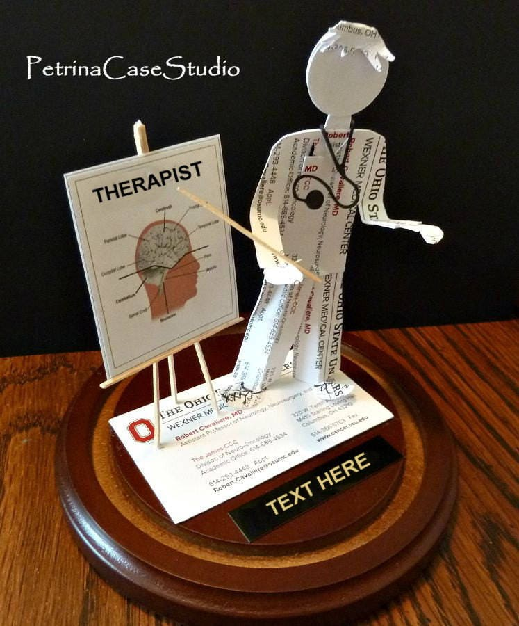 Doctor Business Card Sculpture Male or Female Standing