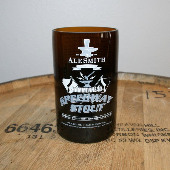 UPcycled Pint Glass - Alesmith Brewing Co. - Hammerhead Speedway Stout