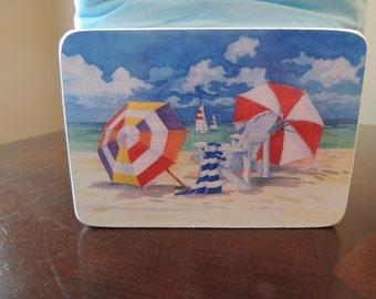 Beach Umbrellas and Adirondack chair Napkin Holder