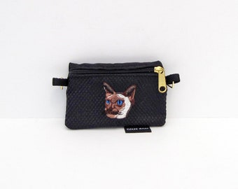 Siamese Cat Coin Purse or 2 Piece Set