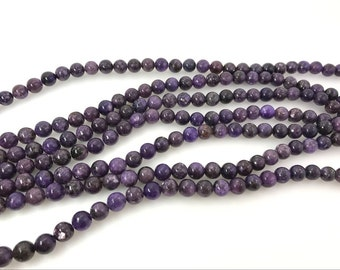6mm Round Lepidolite Beads Genuine Natural 7732 15''L 38cm Loose Beads Semiprecious Gemstone Bead   Supply