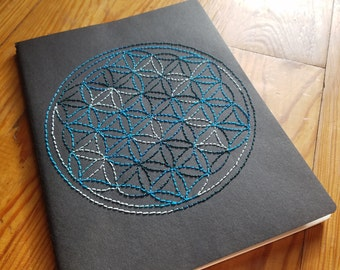 Sacred Geometry Flower of Life Stitched Moleskine Journal