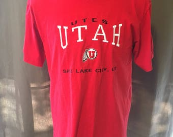 Vintage University of Utah T-Shirt Size: Large