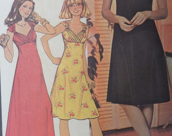 Vintage Sewing Pattern McCall's 4489 Little Black Dress Size 12 Bust 34