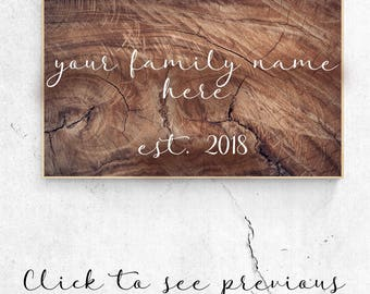 "Hand-Painted ""Family Est."" Wood Decor"