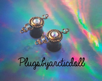 Pair of plugs Gypsy chic