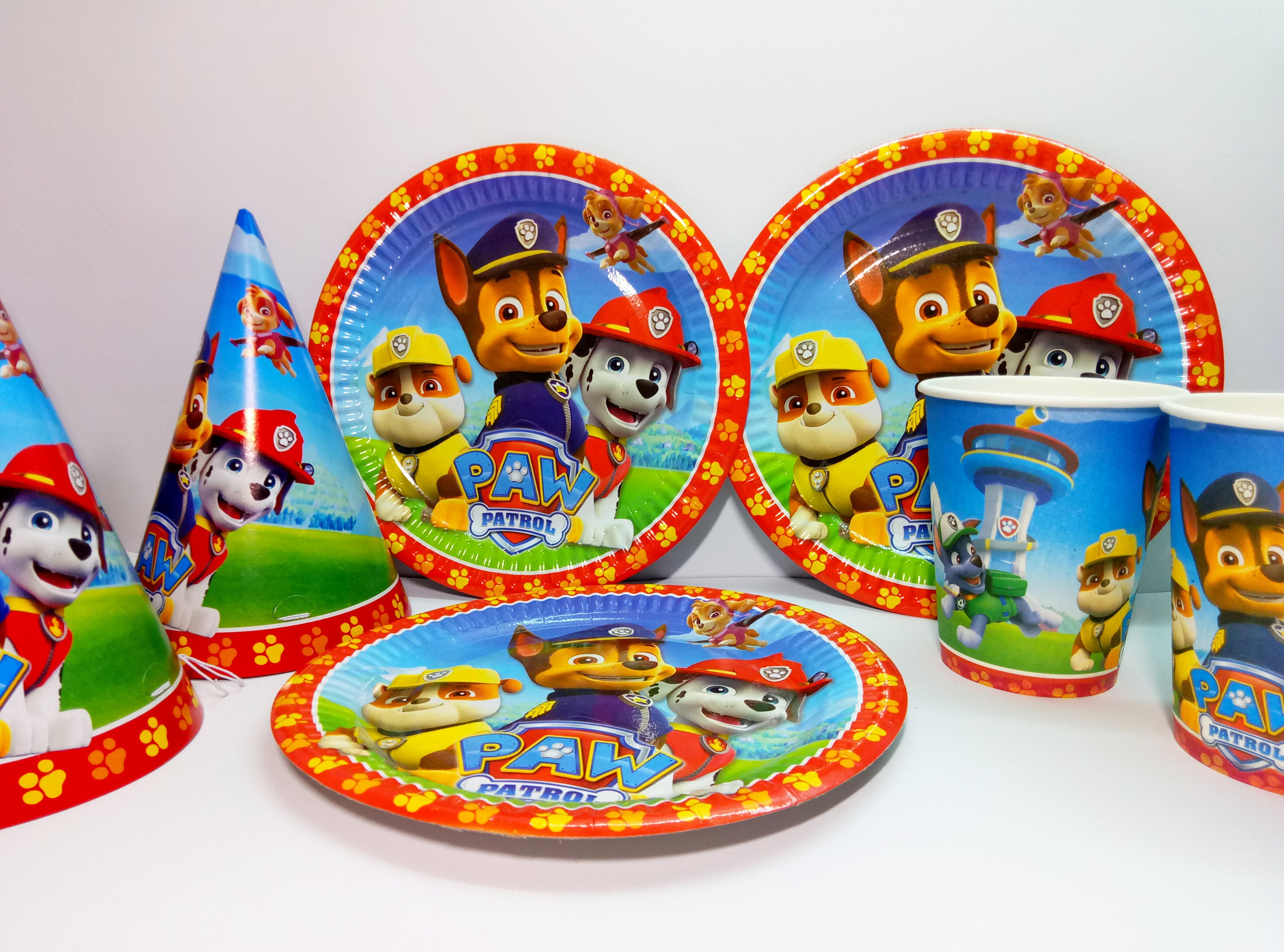 Paw Patrol birthday. Sold by 4GoodParty & Paw Patrol paper tableware. Paw Patrol paper plates cups and party ...