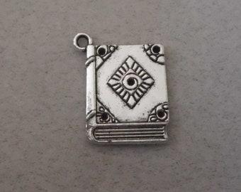Silver Book Pendant