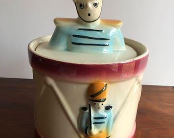 Rare 1940s SHAWNEE DRUM MAJOR Cookie Jar - Near Mint