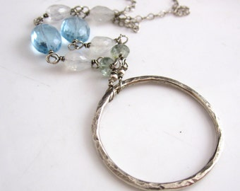 Sterling Ring and Gemstone Necklace