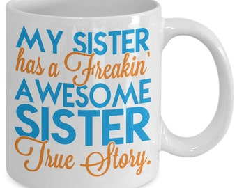 Sister gift, Sister to sister mug, sister gift from sister, gift for sister from sister, sister gift to sister, brother to sister gift