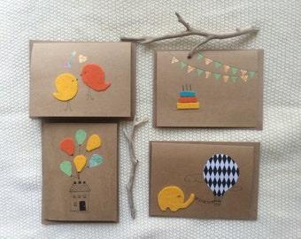 Assorted Felt greeting cards