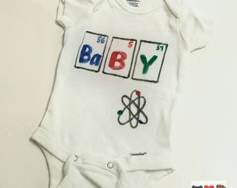 BABY Periodic Table Nerdy Baby Bodysuit
