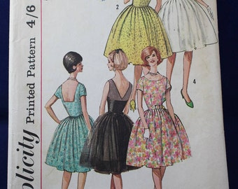1960's Sewing Pattern for a Woman's Prom Dress in Size 16 - Style 4984