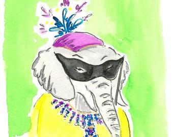 Lady Elephant Print