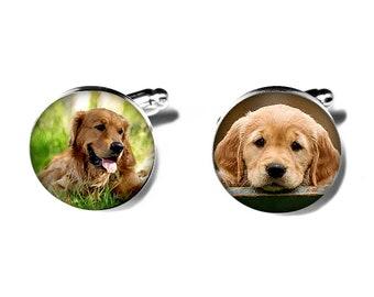 Pet Photo Cufflinks, Personalized Custom Cufflinks, Memorial Keepsake, Dogs, Cats, Wedding, Birthdays, Handmade, Remembrance Gift