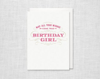 Letterpress Birthday Card - Birthday Girl
