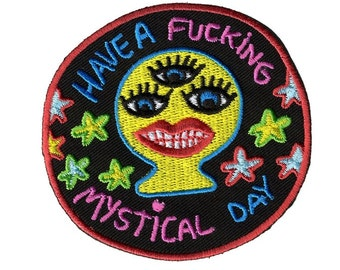 Mystical Day iron on embroidered patch badge